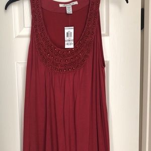 American Rag 1X burgundy dress